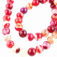 15 Inch Gemstone Red Agate 6mm Round Beads